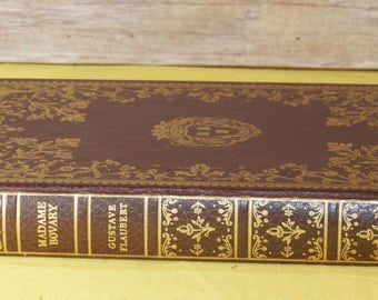 """Vintage Old Book """"Madame Bovary"""" by Gustav Flaubert,Red & Gold Collectors International Collectors Library, Garden City New York"""