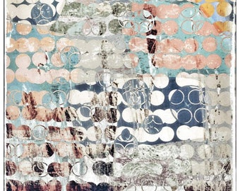 Abstract art, Dream, mystic, dots, photography, pattern, retro revival, vintage, abstract, Blaugün, assemblage, mural,