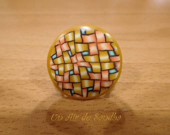 "Ring adjustable ""Caco"" polymer clay."