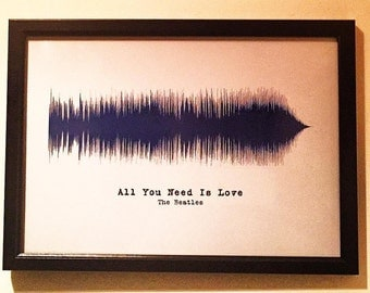 The Beatles - All You Need Is Love - soundwave print