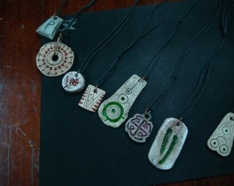ceramic handmade pendants