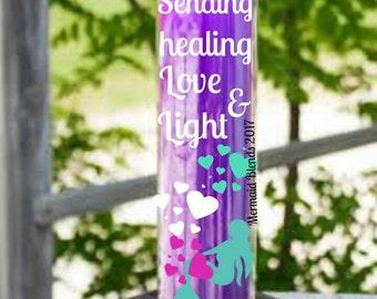 Sending Love n Light Affirmation Candle//Prayer Candle//7 day Candle// Blessed Candle//Attraction Candle//Valentine gift//Scented Candle