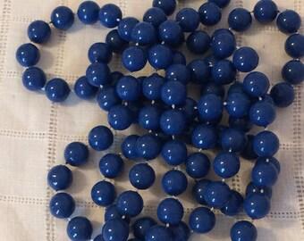 RESERVED MSJLong Blueberry Blue Plastic Bead Strand