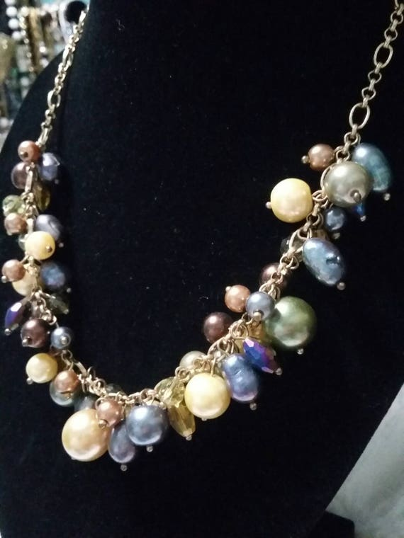 premier designs beaded vintage necklace