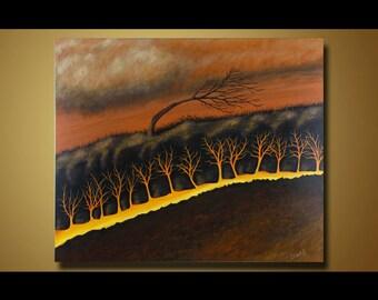 Surreal Landscape Painting Acrylic Painting, Canvas Art, Painting, Artwork, Fine Art, Wall Art, Original Art, Original Painting 20 x 24