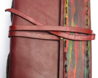 Handmade Leather Journal _ Burgundy Red