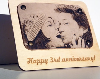 Leather Anniversary Wedding Portraits Gifts For Men Women Ideas 3 Three Year Third 3rd Marriage