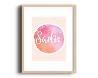 Name Print, Birth Print, Kids Decor, Baby Nursery Decor, Wall Art, DIGITAL FILE