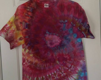 M Dark Tie Dye T-shirt Short Sleeved M