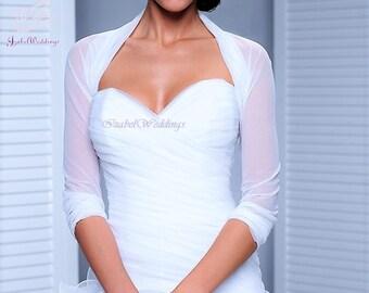 Bridal bolero tulle 3/4 sleeve