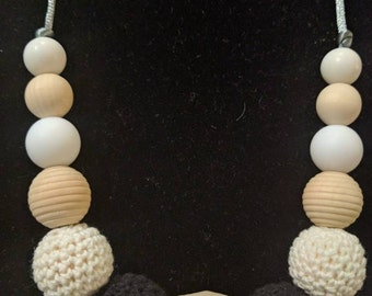 Mommy Teething Necklace, baby teething, Mommy and me
