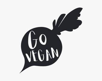 Go Vegan // Vinyl Decal