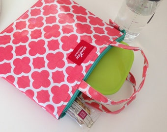 Coral Lunch Bag, Coral Print, Lunch Box, Insulated Lunch Bag, Coral Lunch Bag, Pink Lunch Bag, Insulated Lunch Box, School Lunch Bag, Cute