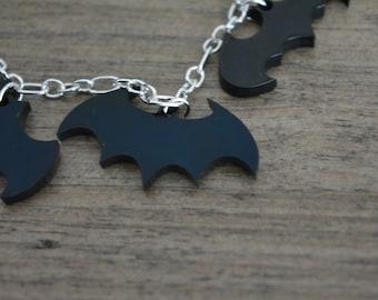 Batman charm bracelet lasercut perspex acrylic jewellery
