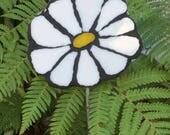 Mosaic White Flower Garden Art