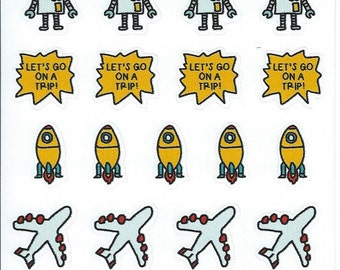 Travel Stickers, Stickers for Planner.