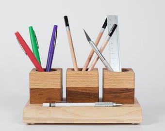 Handmade Reclaimed Stationary Desk Organizer