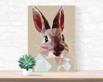 Bunny Rabbit Cross Stitch Pattern / Easter Bunny Ornament / Funny Cross Stitch Pattern / Modern Cross Stitch Pattern / Easter Cross Stitch
