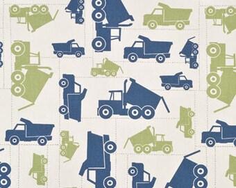 Dump Truck Fabric- kids fabric, curtains, throw pillows, roman shades