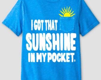 I got that sunshine in my pocket BOYS Troll shirt