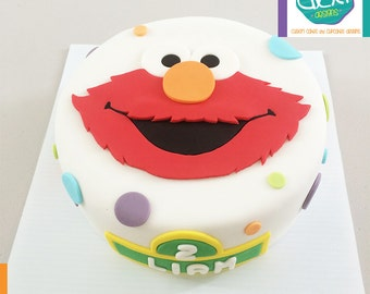 Elmo Edible Cake Images : Edible Fondant Moana Cake Topper
