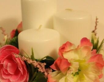Pink tropical flower centerpiece
