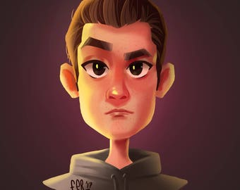 Custom caricature - Avatar for your social networks - Cartoon yourself - Caricature portraits - Selfie cartoon custom caricature portrait