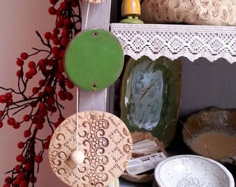 Ceramic wind chime window decorations