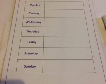 Family Weekly Planner - Wipeable