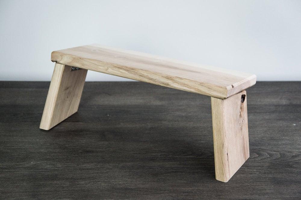 Meditation Bench Prayer Stool Yoga Stool Handmade Wooden