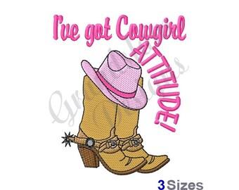 Cowgirl Attitude - Machine Embroidery Design