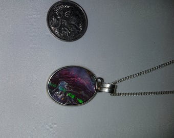 Very nice Boulder Opal set in sterling silver by me ;-)