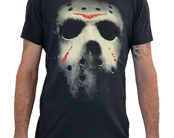 "MensT-shirt ""FRIDAY The 13TH Mask"" Water Colors Screen Print"
