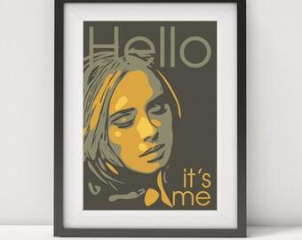 adele, adele lyrics, adele poster, adele print, adele art, prints, music poster,adele-hello, grammy awards,gift, quote poster, digital print