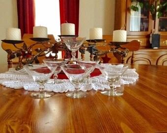 Set of 6 Vintage Glass Dessert Cups