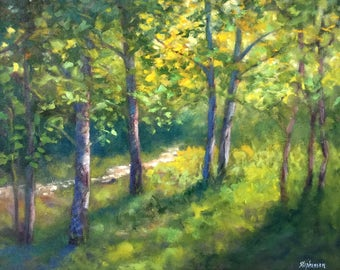 """Original Oil Painting Framed Landscape """"Entirely Different Way"""""""