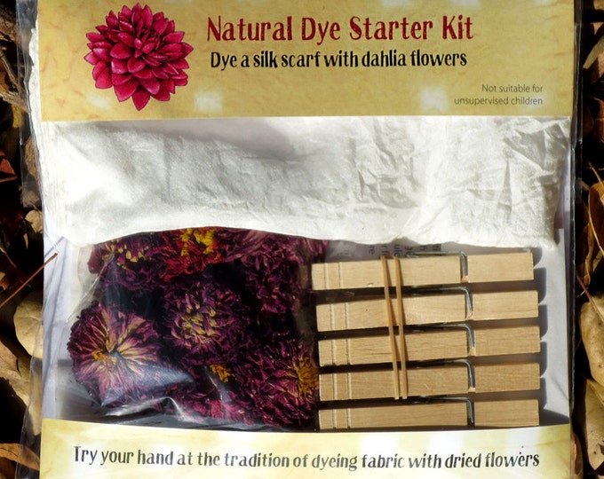 Natural Dye Starter Kit with dahlia flowers