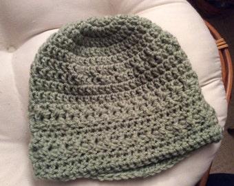 Hand crocheted textured beanie