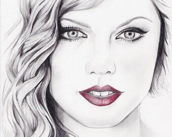 Taylor Swift ritratto a matita