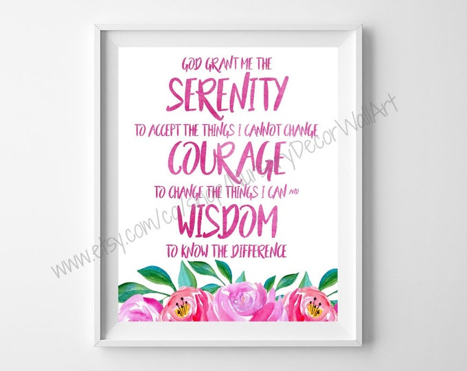 Serenity Prayer, Bible Journaling Kit, Gratitude Journaling, Bible Art Journaling, Daily Devotional, addiction recovery, recovery, scripture