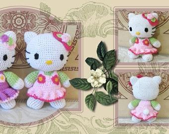 Hello Kitty crochet doll