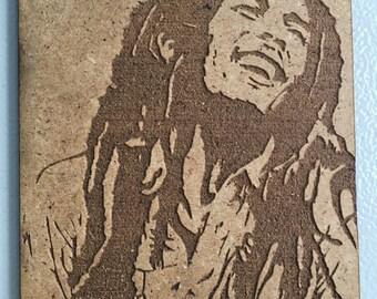 Bob Marley - box wood - 120 x 150