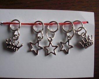 Crown and Star Stitch  Markers
