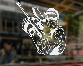 Paintball Sniper Gun Vinyl Stickers Funny Decals Bumper Car Auto Computer Phone Mobile Laptop Wall Window Glass Skateboard Snowboard Helmet