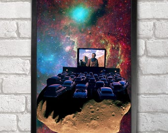 Asteroid Cinema Poster Print A3+ 13 x 19 in - 33 x 48 cm Space Collages Buy 2 get 1 FREE