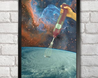 Typhoon Mixer Poster Print A3+ 13 x 19 in - 33 x 48 cm Space Collages Buy 2 get 1 FREE