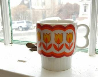 Retro Orange and Yellow Coffee Mug