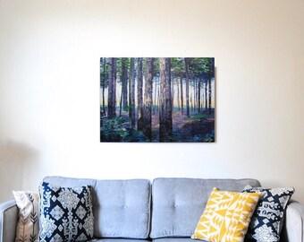 Sherwood Forest Purple Canvas Print