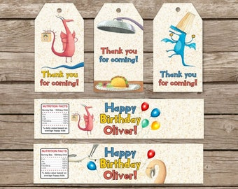 Dragons Love Tacos Birthday, Dragons Love Tacos Tags, Dragons Love Tacos Party Theme, Dragons Love Tacos Water Bottle Labels