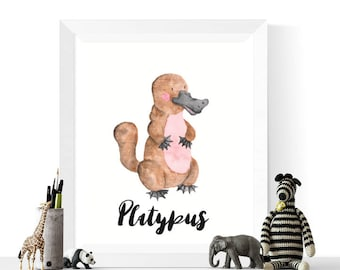 platypus printable platypus watercolor printable australian animals platypus print watercolour animal